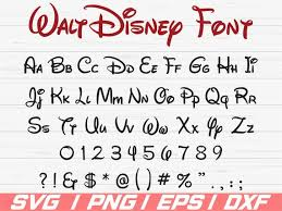 Disney Font Disney Font Svg Disney Alphabet Svg Disney Letters Svg Cricut Cut Files Clipart Silhouette Vector