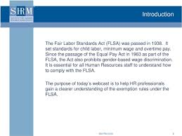 Understanding Exemptions Under The Flsa Pdf Free Download