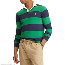 polo ralph lauren the iconic rugby shirt green navy mens polos sgsvdmcv