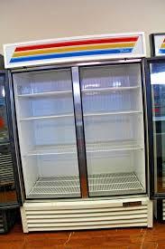 true gdm 49f hc tsl01 54 2 section glass door freezer merchandiser
