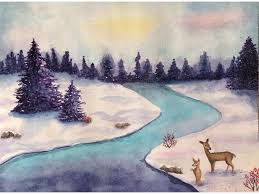 winter watercolor painting classes