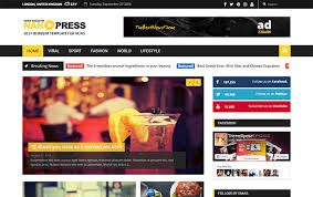 Nanopress Responsive News Magazine Blogger Template Way