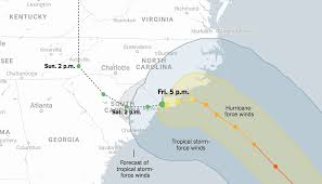 Hurricane Tracking Chart Florence Maps Hurricane Florences Approach Toward The Carolinas