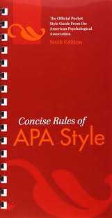 Concise Rules Of Apa Style Apa 0884485824340 Creative Writing