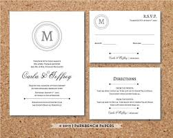 Editable Wedding Invitation Rsvp Card And Insert Card Classic