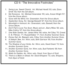 Albums Best Of The Footnotes Lps Innovation Princeton Footnotes
