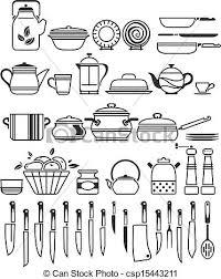 Kitchen tools and utensils vector illustration vector clip art