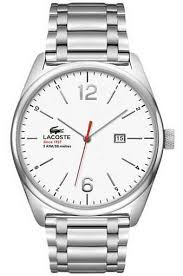 men s lacoste austin stainless steel watch 2010745 men s lacoste austin stainless steel white dial watch 2010745
