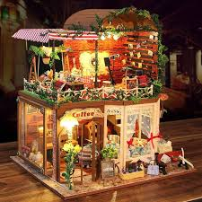 creative assembling diy miniature villa model kit wooden doll house unique big size house toy with furnitures girls gift