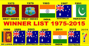 Icc World Cup Winner Lists From 1975 To 2019 Info N Facts