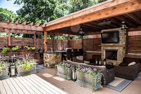 furniture patio deck grills fireplaces deck features zones for entertainment cooking relaxing hgtv