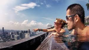 infinity pool mbs. Edge Of The Marina Bay Sands SkyPark Infinity Pool - Mbs