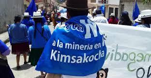 Resultado de imagen para Kimsakocha mineria