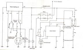 the yamaha triples community workshop electrical a circuit diagram for the lamp checking system