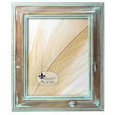 Image Decor Lawrence Frames 8x10 Weathered Wood With Verdigris Wash Picture Frame Amazoncom Unique Picture Frames Amazoncom