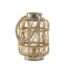 duncan glass metal jute lantern