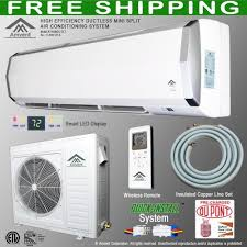 ductless wall air conditioner. Unique Air Amvent 24000 BTU 2 Ton Ductless Wall Mount Mini Split Room Air Conditioner  AC Conditioning Cooling System Unit  Single Conditioners Inside C