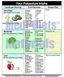 Potassium In Fruits Chart High Potassium Foods List Pdf Medi Diets Products Diet