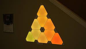 Gaming Led Wall Lights Smart Art The Nanoleaf Aurora Triangular Lighting System Is