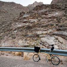 Tucson Elevation Chart Route Map Sabino Canyon Trail With Elevation Chart At The