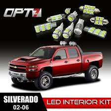 2006 Chevy Silverado Bulb Chart Details About Opt7 18pc Interior Led Light Bulbs Package Kit For 02 06 Chevy Silverado White