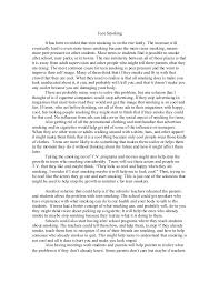 teen smoking essay