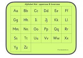 Alphabet Mat Uppercase And Lowercase Printable Teaching