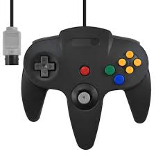 rgb scart cable for snes gamecube n64 jp21 full size wired controller game pad for nintendo n64 deep gray black