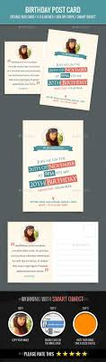 birthday postcard template pin by best graphic design on postcard templates pinterest