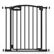 h ultimate baby gate safe step auto close and locking indicator pressure mounted black