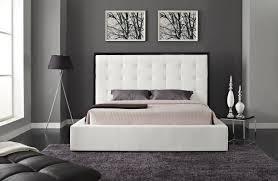 Modern Bedroom Furniture Nj Amelia White Modern Bed Buy Modern Beds Online Nj Creative