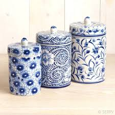 blue canister set blue meadow canister set blue canister set post