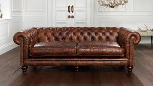 chesterfield sofa leather 2 person brown hampton