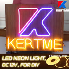 Diy Light Sign Board Kertme Dc12v Silicon Neon Led Light Strip Safety Super Bright Flexible Waterproof Rope Light For Advertising Signboard Brand Logo Home Shop Diy