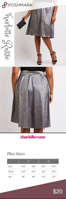 Charlotte Russe Plus Size Silver Party Skirt