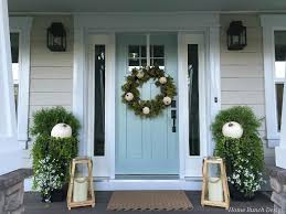 fall front door decorations2016 Farmhouse Fall Decorating Ideas  Home Bunch  Interior