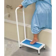 non slip bath step with handle