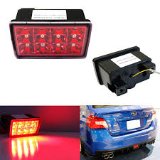 Jdm Rear Fog Light Red Smoked Or Black Housing With Clear Lens F1 Style Led