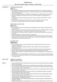 Qa Specialist Sample Resume QA Specialist Resume Samples Velvet Jobs 24