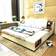queen side bed queen side bed decoration modern leather queen size storage bed frame with side