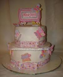 Coolest Butterfly Baby Shower Cake