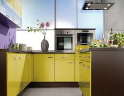Small Kitchen Color Scheme Kitchen Sweet Small Kitchen With Yellow Color Scheme Using