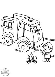Dessins Coloriage Camion Pompier Imprimer Dessin Colorier Sam