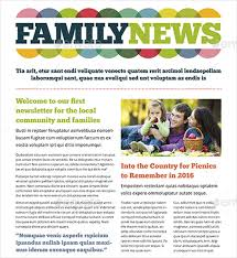 9 Family Newsletter Template Free Psd Pdf Documents Download