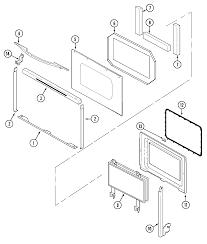 jenn air range parts. sce30600b electric slide-in range door parts diagram jenn air l