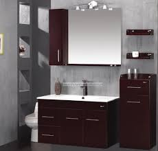 red gloss bathroom furniture. bathroom: stylish red mahogany bathroom floating vanity furniture ideas with twin vessel sink and wall gloss