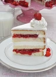 Cake Fixation Vanilla Cake With Strawberry Jam Recipe And Super