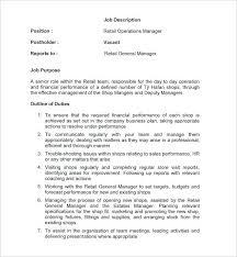 Retail Sales Associate Job Description For Resume Classy Retail Job Description Resume Free Retail General Manager Job