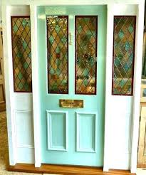 custom leaded glass entry wit wildlife swamp setting front doors stained for decorative panels sans d