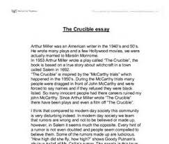 the crucible theme essay essay writing uk images the crucible theme essay crucible essays and papers 123helpme